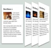 html5和css3炫酷手风琴3D效果