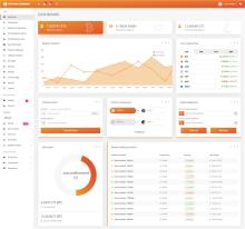 比特币货币交易后台管理响应式HTML5模板