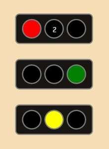 交通红绿灯动画代码
