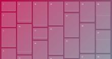 网页背景颜色线性渐变瀑布流插件jQuery代码