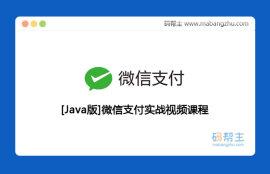 Java版微信支付实战视频课程