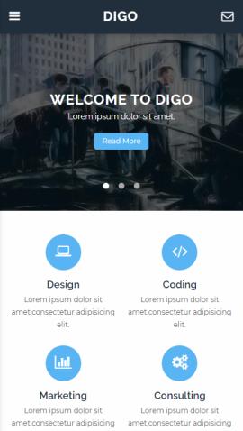 jQuery移动端企业公司类网站模板