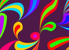 基于canvas的鼠标点击随机变化的彩色花纹网页布局特效