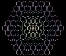 css3彩色六边形ui动画特效