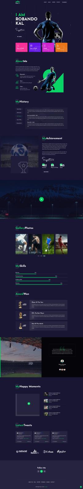 jQuery bootstraps响应式体育足球运动类网站模板