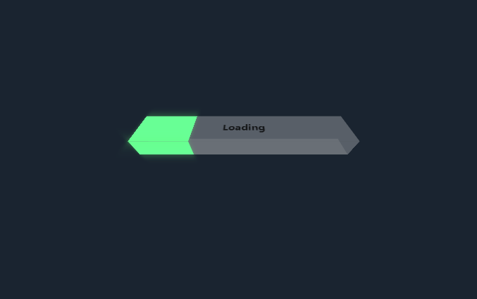 3D效果长方体loading加载中动画特效