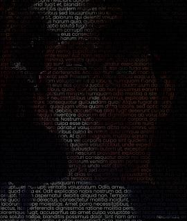 由文字或字母绘制成的超逼真肖像UI特效