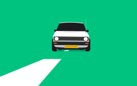 纯css实现飞驰在公路上的小轿车动画特效
