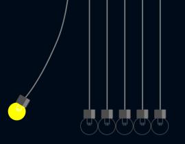 非常有意思的灯泡永动机动画特效