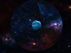 星空转动的陨石太空动画特效