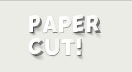 文字剪纸效果动画特效